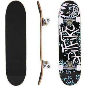 SKATEBOARD - LONGBOARD Skateboard complet en bois d'érable PU roues Planc