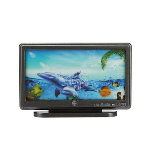 1:12 poupée maison miniature large écran plat LCD TV décor à distance