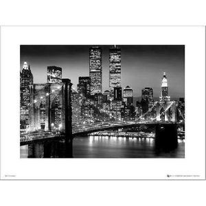 poster new york noir et blanc achat vente poster new. Black Bedroom Furniture Sets. Home Design Ideas