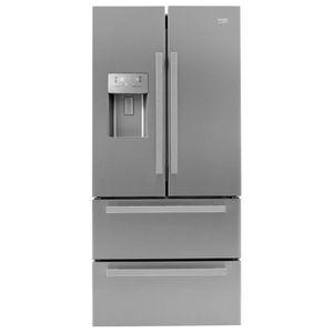 RÉFRIGÉRATEUR AMÉRICAIN BEKO GNE60532DX - Réfrigérateur - 2 portes & 2 tir