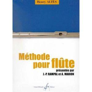 MÉTHODE Henry Altès Méthode pour flûte - Billaudot Edition