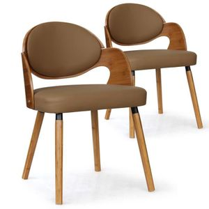 CHAISE Lot de 2 chaises scandinaves Estel Chêne Clair et