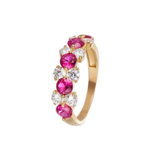BAGUE - ANNEAU Mes-bijoux.fr - Bague Femme Brasier Or Blanc 375-1