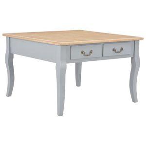 TABLE BASSE TABLE BASSE Table à thé-Contemporain salon-Gris 80