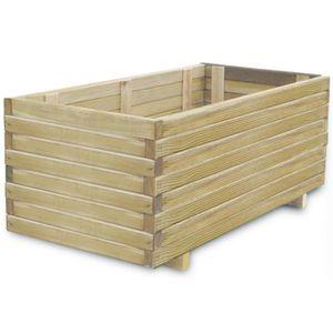 JARDINIÈRE - BAC A FLEUR Jardinière rectangulaire 100 x 50 x 40 cm Bois FSC