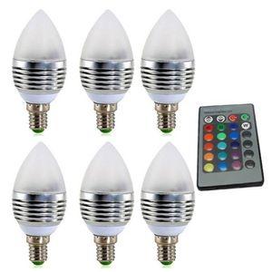 AMPOULE - LED Ampoule Led 6 Pcs 3w Lumière De Bougie Spot Rgb Lu