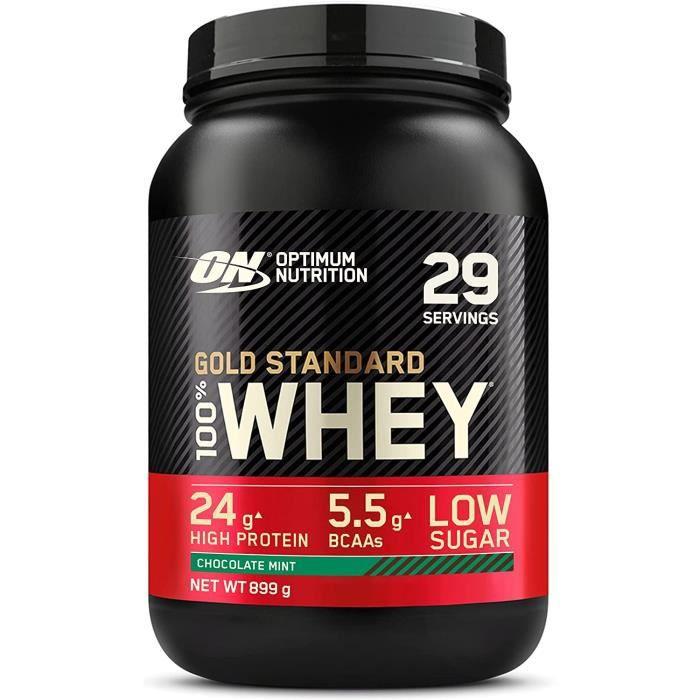 Optimum Nutrition Gold Standard 100 Whey Protine en Poudre avec Whey Isolate Proteines Musculation Prise de Masse Chocolat Me[330]