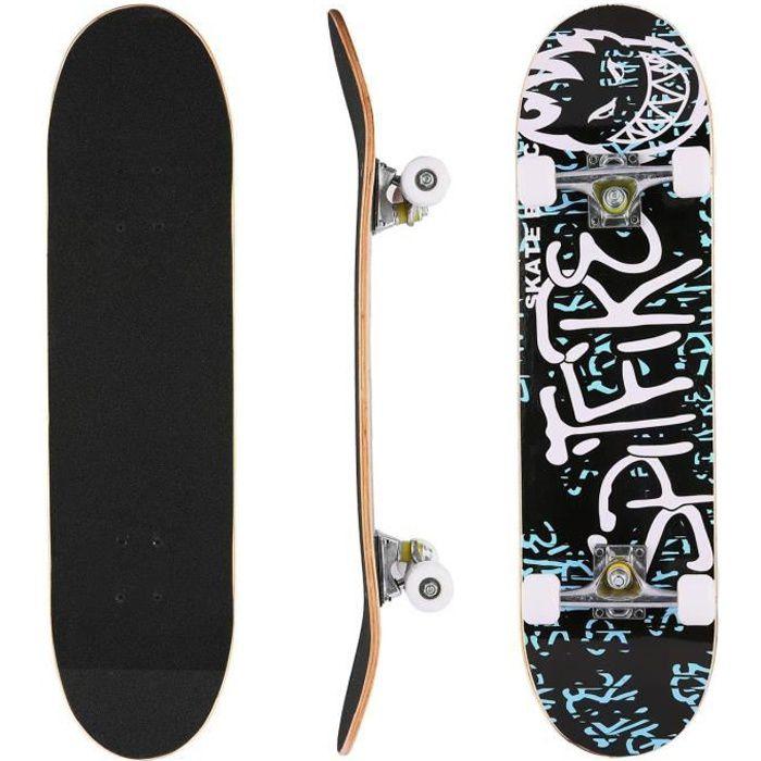 Skateboard complet en bois d'érable PU roues Planche à roulettes universelle - Type Lettre