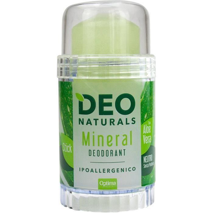 Déodorants et anti-transpirants Optima Deonaturals Déodorant Minéral Neutre avec Aloe Vera Hypoallergénique 80 g 73121