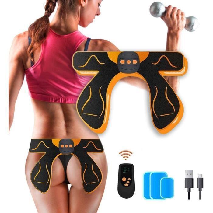 MATEHOM Electrostimulateurs Fessier,Appareil Musculation Fessier,Electrostimulateur Musculaire,Home Office Gym Workout Équipement po