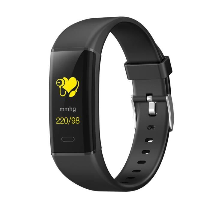MK05 Montre intelligente Sports Fitness Activité Cardiofréquencemètre LEI90604002BK_Occ