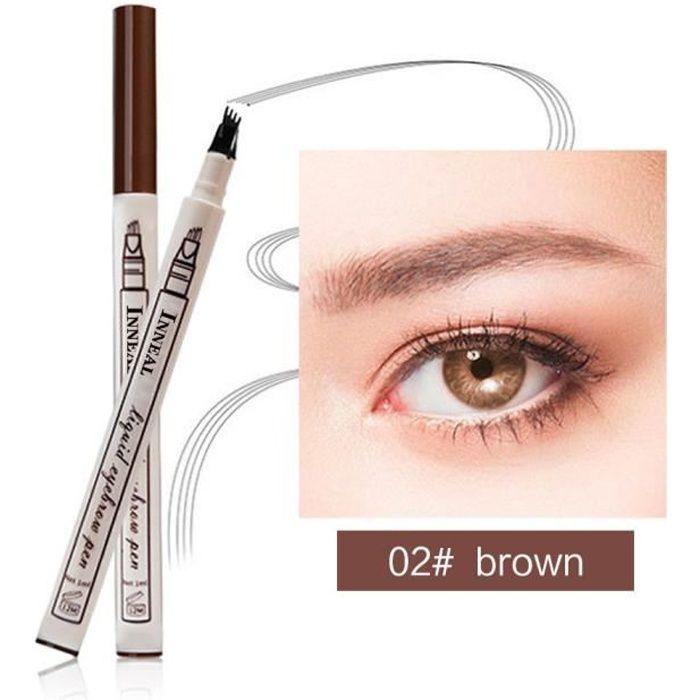Crayon imperméable de stylo de sourcil d'eye-liner de sourcil d'oeil avec le cosmétique de maquillage de brosse