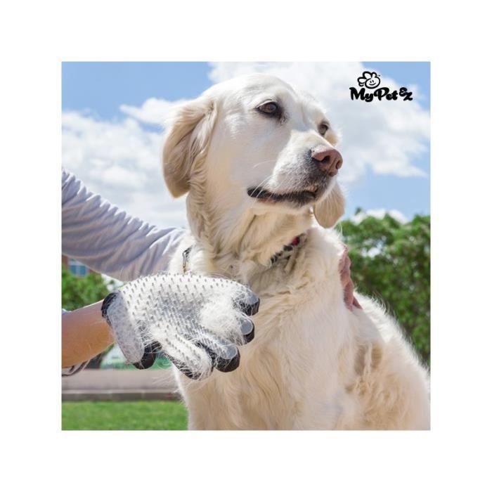 MY PET Gant de brossage Petter - Tissu transpirable - Pour chiens