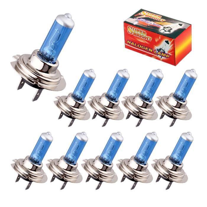 WHITE 100 W H4 -Ampoules halogènes Super lumineuses H1 H3 H7 H4 H11 HB3 HB4 HB5 9004 9005 9005 9007 feu antibrouillard blanc 100W 55