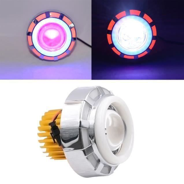 FE Haut - Bas Faisceau LED phares pour moto Angel Eyes White Devil Eye _bei206 - FEYIA0209A4376