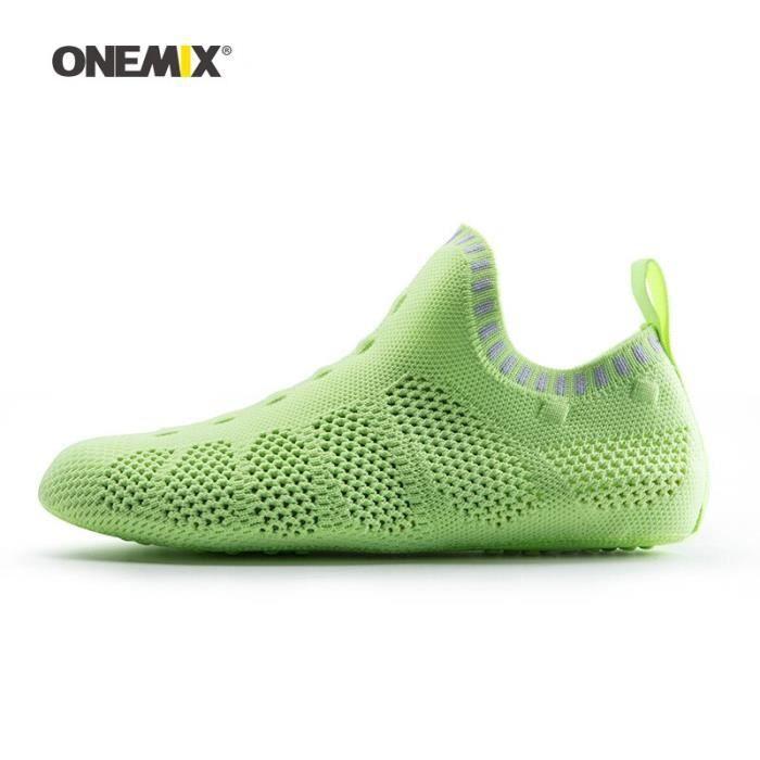 Accessoires Fitness - Musculation,ONEMIX hommes Yoga chaussettes de sport pour femmes maille - Type Light Green-US 11(EUR 45)