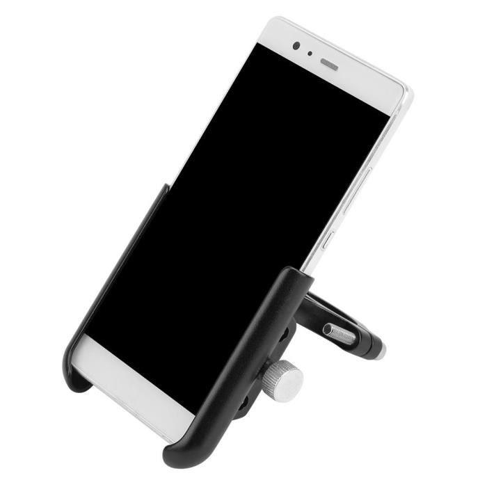 Tbest support de téléphone de moto Support de téléphone portable de 0.7-1.4in de diamètre support de support en alliage