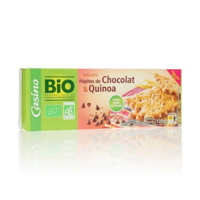 BOUVARD BISCUITS Biscuit pépites de chocolat et quinoa - 135 g