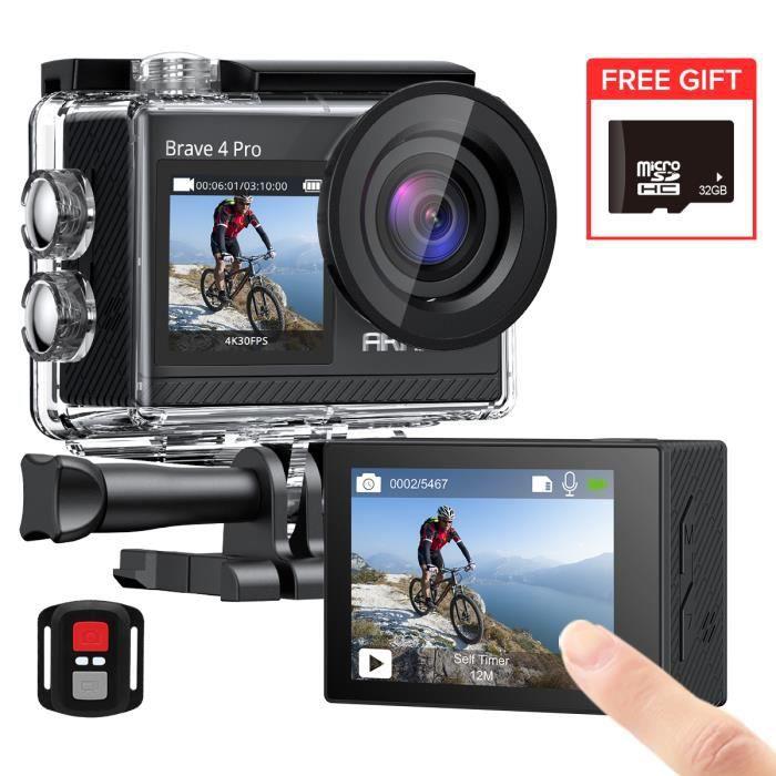 Caméra Sport 4k Dragon Touch WiFi avec Caméra Sportive Etanche sous-Marine,Grand Angle 170° Kits d'Accessoires, App (XDV) Vision 3