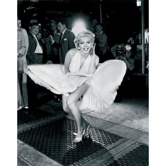 Poster Affiche Marilyn Monroe Photo Celebre Robe Blanche Star 61cm x 77cm