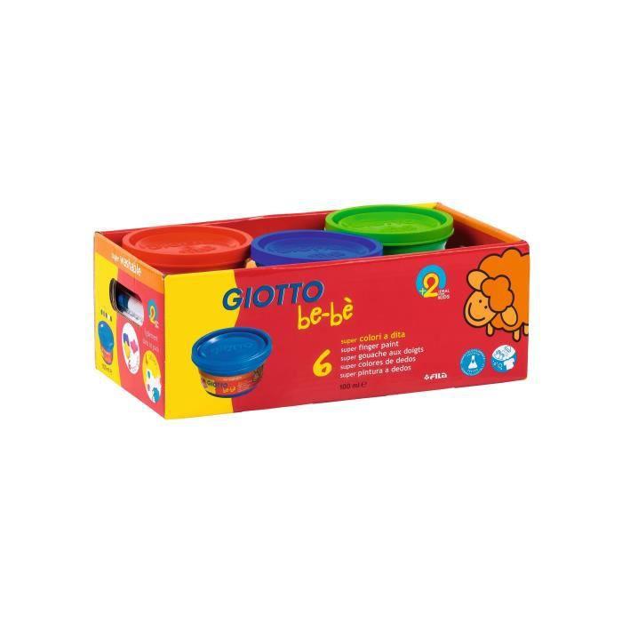 GIOTTO Schoolpack be-bè Gouache aux doigts - 6 x 100 ml