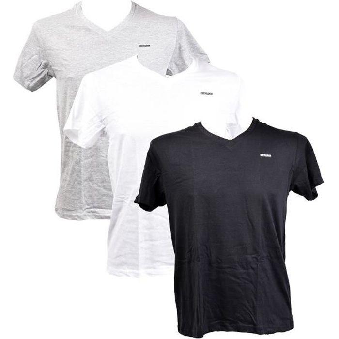 T shirt homme CHEVIGNON en Coton Confort et Qualité Pack de 3 T Shirts TADEK Col V XXL