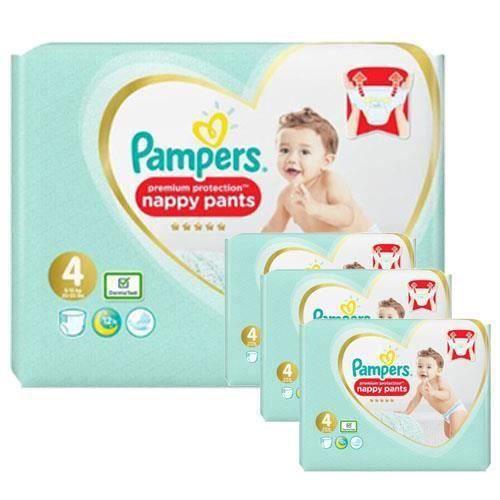 Pampers - 342 couches bébé Taille 4 premium protection pants