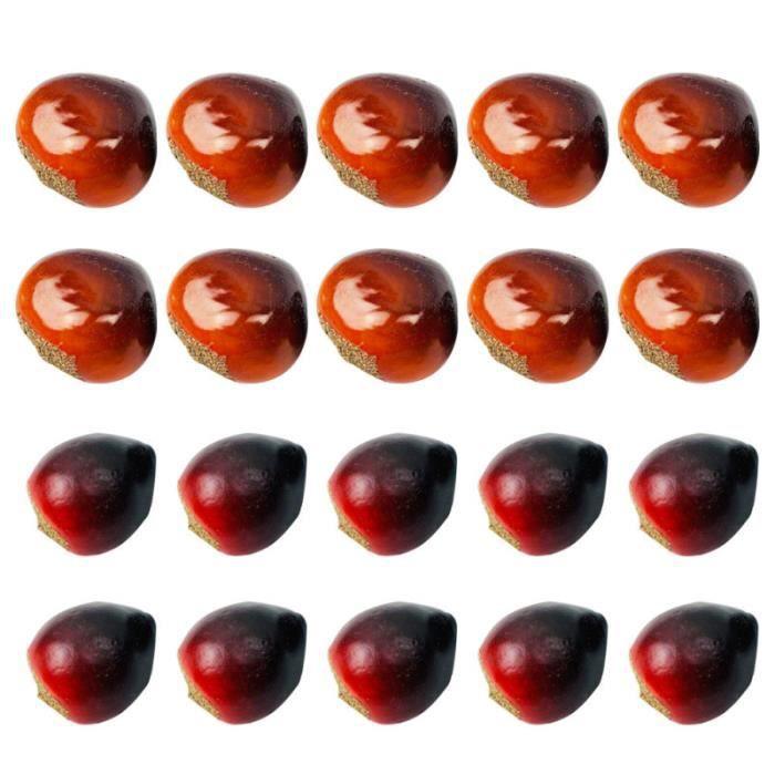 20 pièces châtaignes chinoises ornements de noix simulés décor de bureau créatif accessoire de BUFFET - BAHUT - ENFILADE