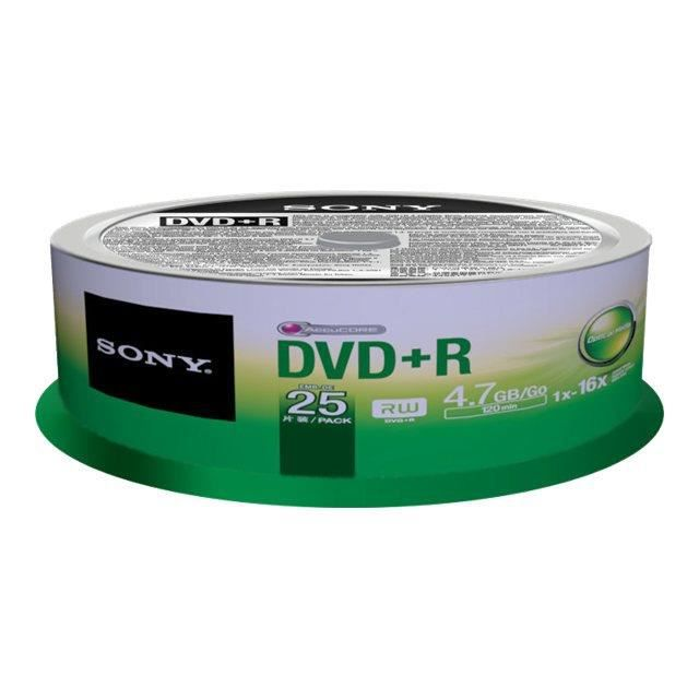 Sony 25DPR47SP - 25 x DVD+R - 4.7 Go ( 120 minute…