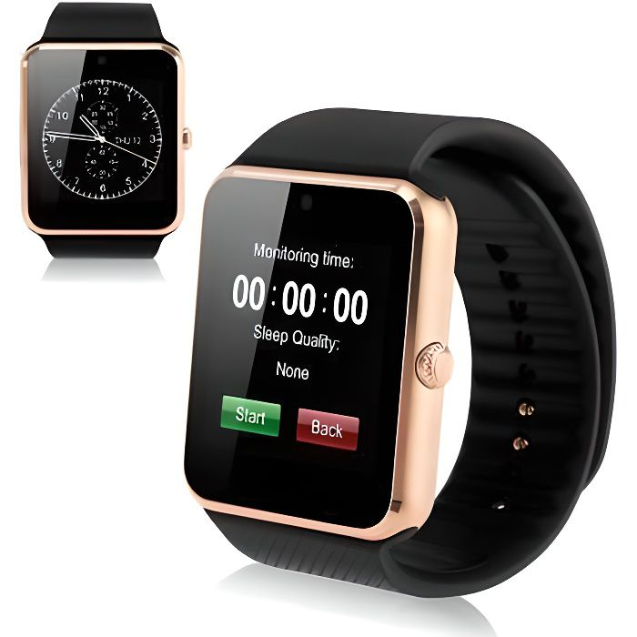Date GT08 Bluetooth montre Smart Watch NFC Wirst Mate pour iPhone Téléphone Android