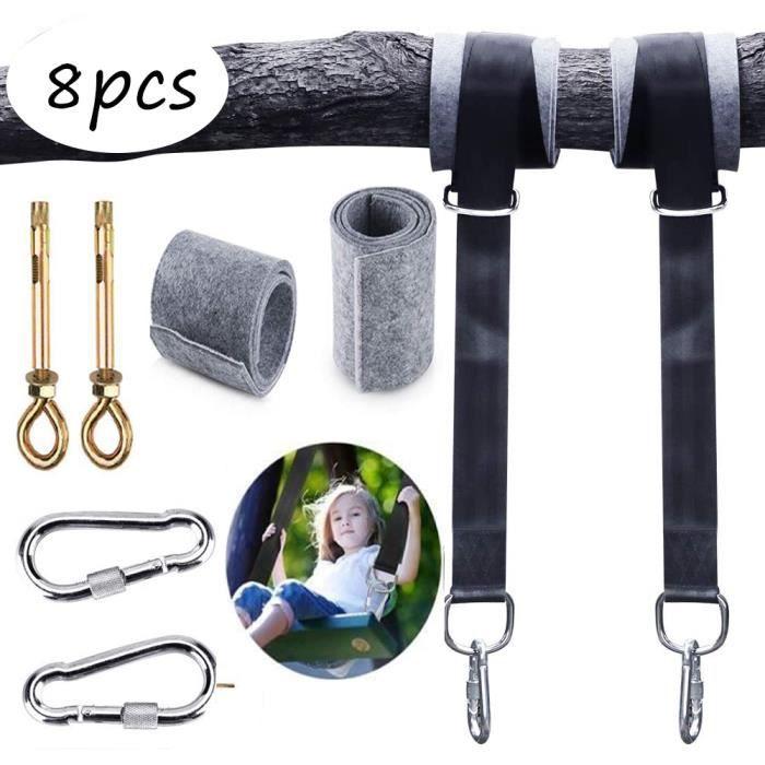Yangbaga - Ensemble d'accessoires -Lot de 2 Sangles Hamac Suspendu Kit de Fixation Ultra Résistant-Balançoire Hamac Arbre 5 * 120cm
