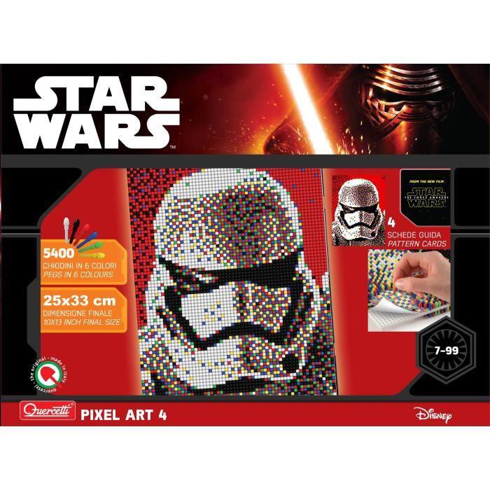 Star Wars 4 Tableaux Pixel Art Stormtrooper 5400 Boutons