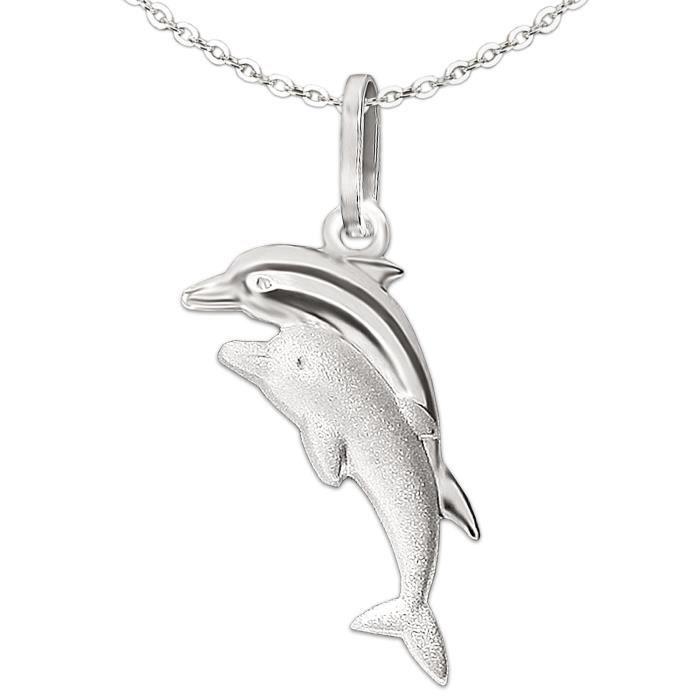 Mini dauphin en argent sterling 925 Pendentif mignon pour femme Heartbreaker Pendentif dauphin en argent v/éritable Collection Delfin