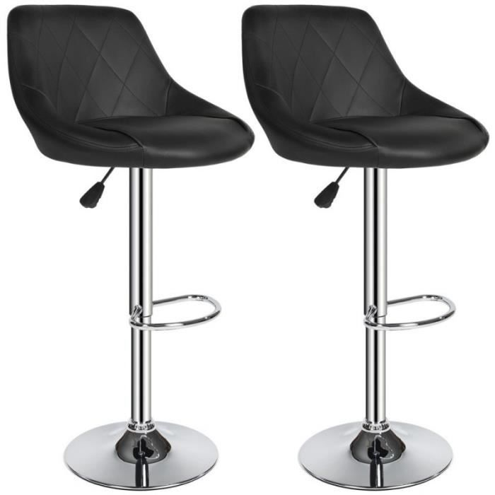 lot de 2 tabourets de bar chaises de bar si ges de bar. Black Bedroom Furniture Sets. Home Design Ideas