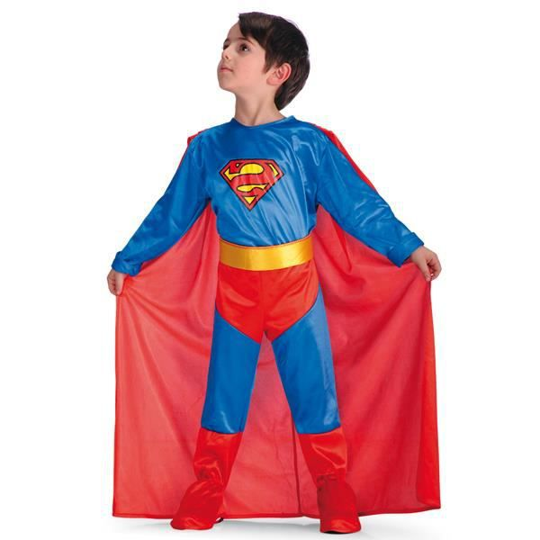 costume superman enfant deguisement halloween 4 5 ans. Black Bedroom Furniture Sets. Home Design Ideas