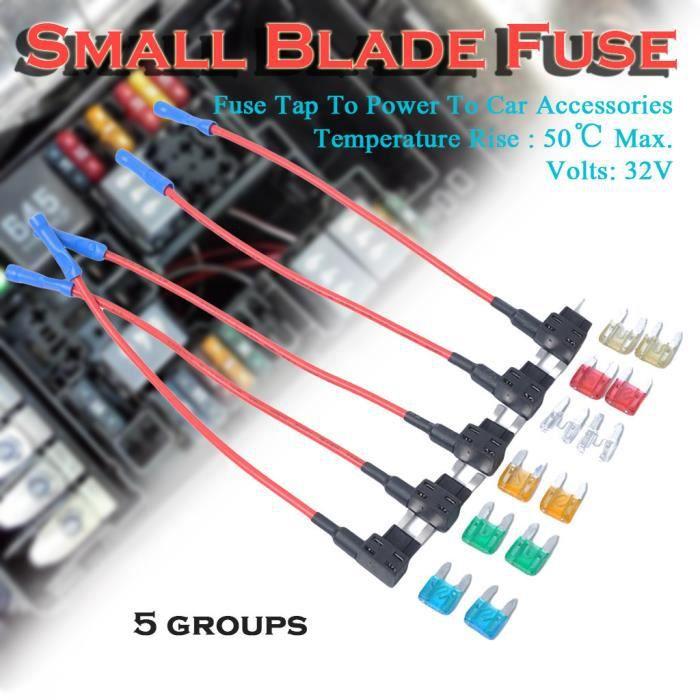 5x 1amp Mini 5mmx20mm verre radio 10 A Fusible Auto Bateau Câble Électrique