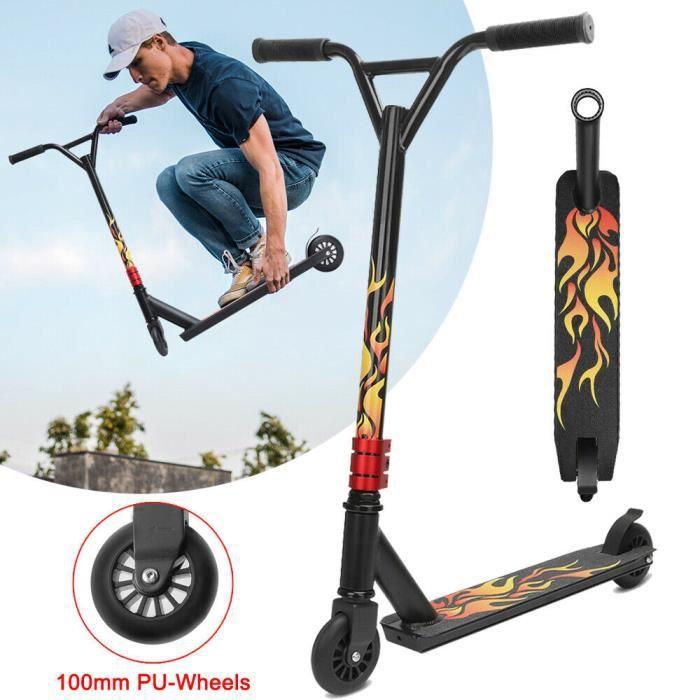 YOLEO Trottinette Trottinette Freestyle Pro Trottinette pour Enfants et Adultes