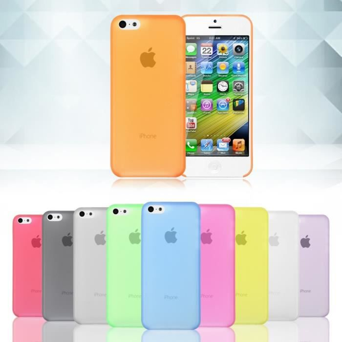 lot 6 coques iphone 5c mix couleurs ultra fine sil