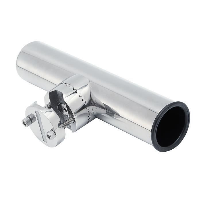 MagiDeal Acier Inoxydable Bateaux Marine Attache Pince Support Porte-canne /à P/êche pour Rails 3//4  /à 1
