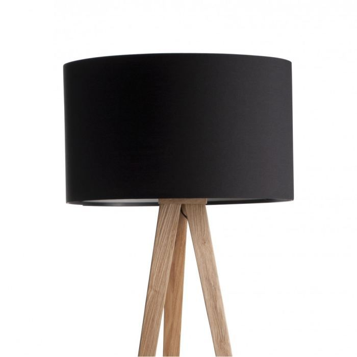 lampadaire noir pied bois achat vente lampadaire noir. Black Bedroom Furniture Sets. Home Design Ideas