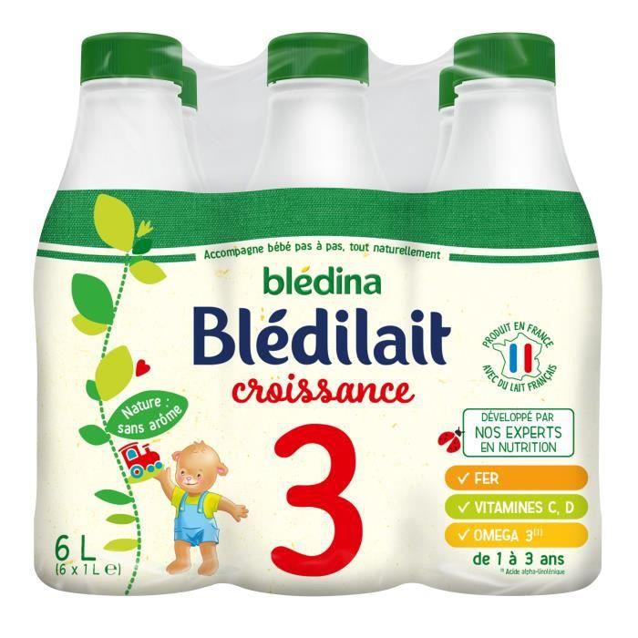 LAIT DE CROISSANCE BLEDILAIT Lait bébé croissance 6x1L