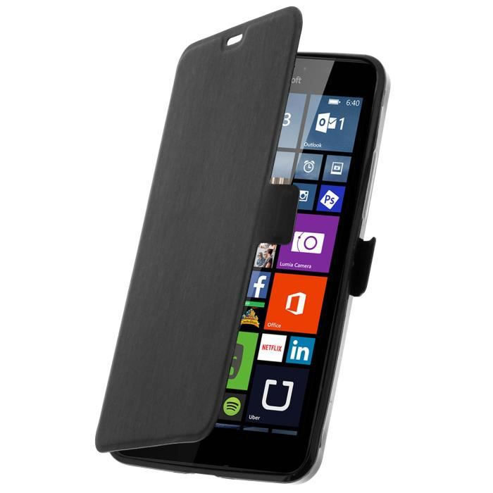 Housse clapet folio nokia lumia 640 xl microsoft lumia for Housse nokia 6