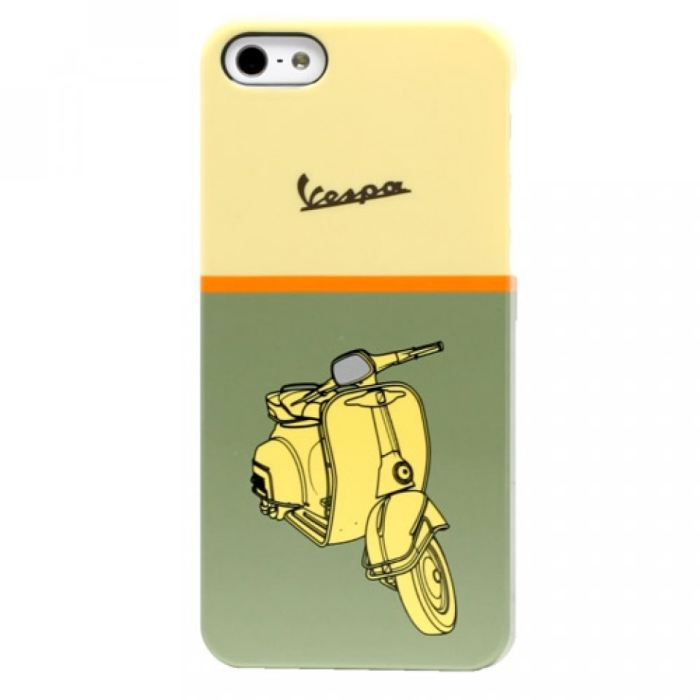 Coque iPhone 5 rigide vespa verte motif scooter