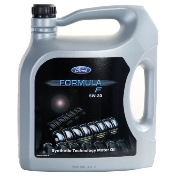huile moteur ford 5w 30 formula f 5 litres jerrycans achat vente huile moteur ford 5w 30. Black Bedroom Furniture Sets. Home Design Ideas