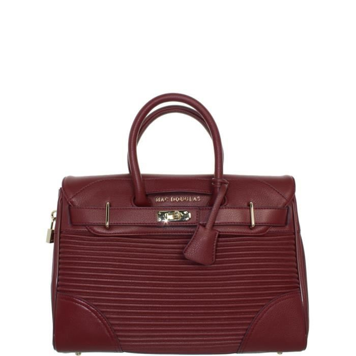 Sac à main Mac Douglas Pyla Rymel ref_mac39770 mh59 bordeaux XS Rouge