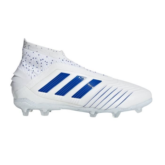Chaussures Football Adidas Predator 19 Fg Blanc-Bleu Junior ...