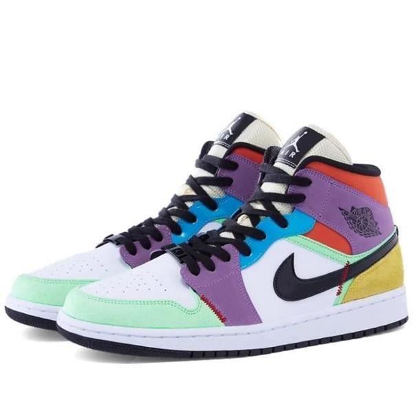 "Air Jordan 1 Mid SE ""Multicolor"" Chaussures de Basket Air Jordan ..."