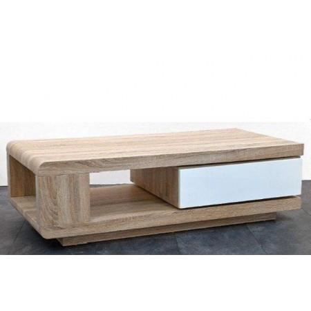 Table basse design bois sonoma et blanc taylor ii achat for Table basse bois design