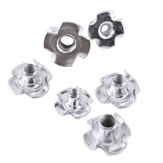 /Écrous en T 100/pi/èces en acier carbone quatre Store /à griffes inserts /Écrou pour meubles en bois M3//M4//M5//M6//M8//M10