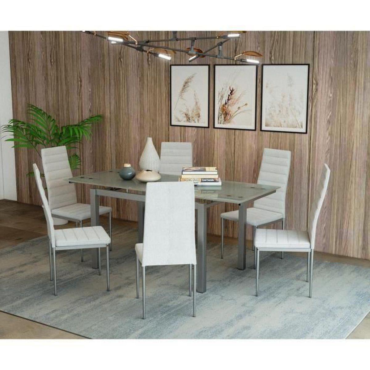 Table Salle A Manger Carré Avec Rallonge table blanche avec rallonge